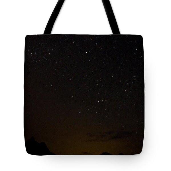 Perseid Meteor Shower Tote Bag