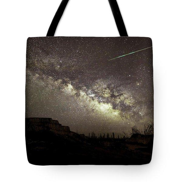 Perseids Milky Way Tote Bag