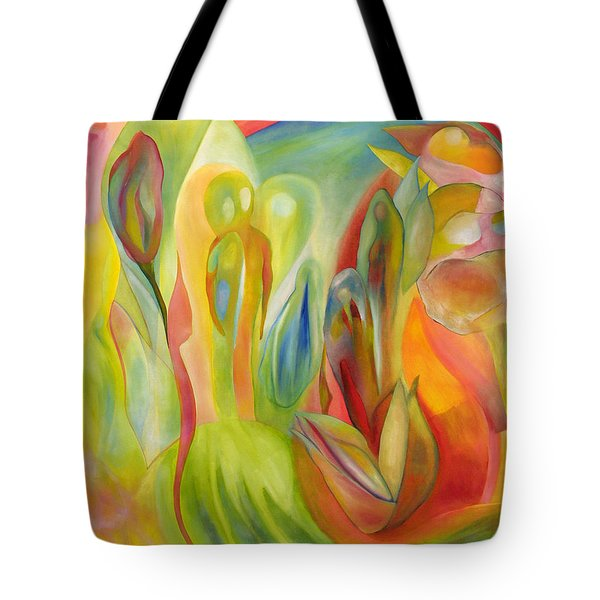 Tote Bag featuring the painting The Liberation Of Persephone by Linda Cull