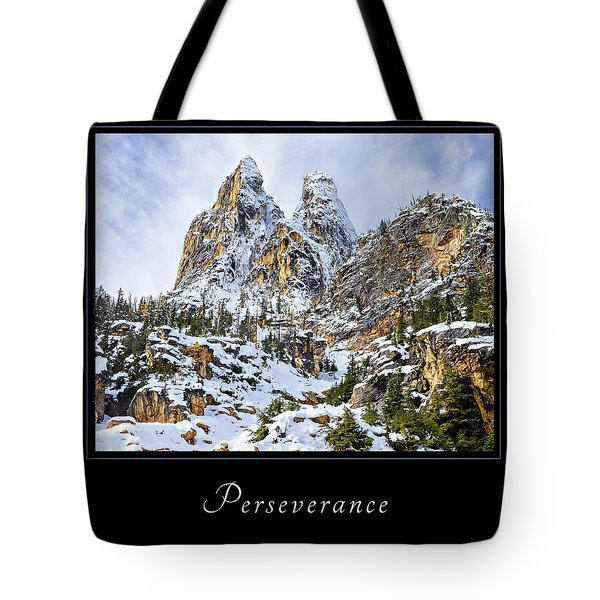 Tote Bag featuring the photograph Perserverance 1 by Mary Jo Allen