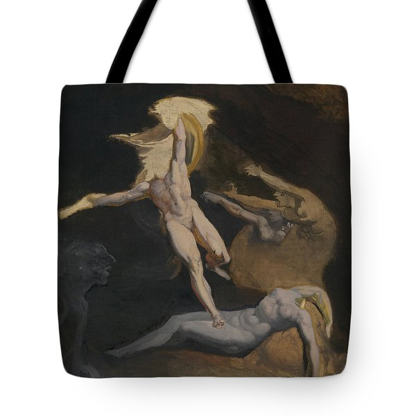 Perseus Slaying The Medusa Tote Bag by Henry Fuseli