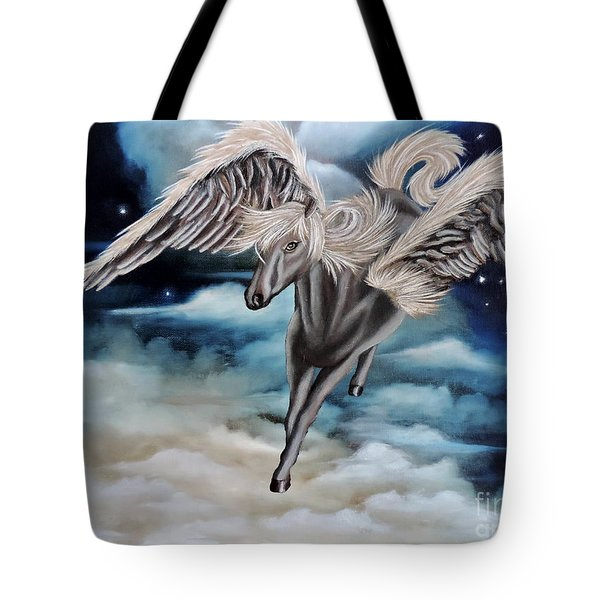 Perseus The Pegasus Tote Bag by Dianna Lewis