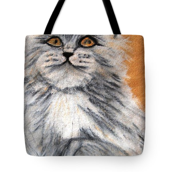 Persian Cat Tote Bag by Angela Murray