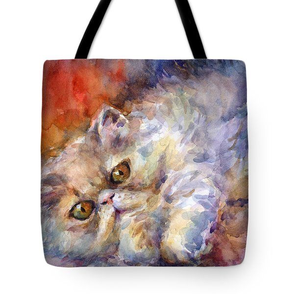 Persian Cat Painting Tote Bag