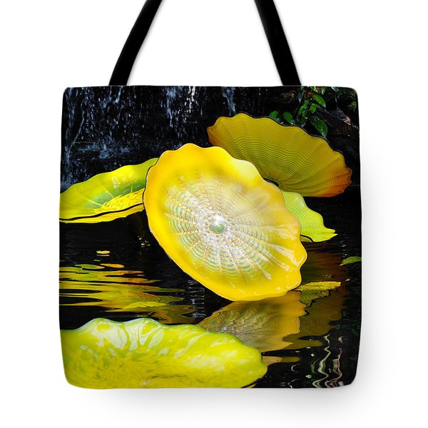 Persian Lily Pads Tote Bag by Kyle Hanson