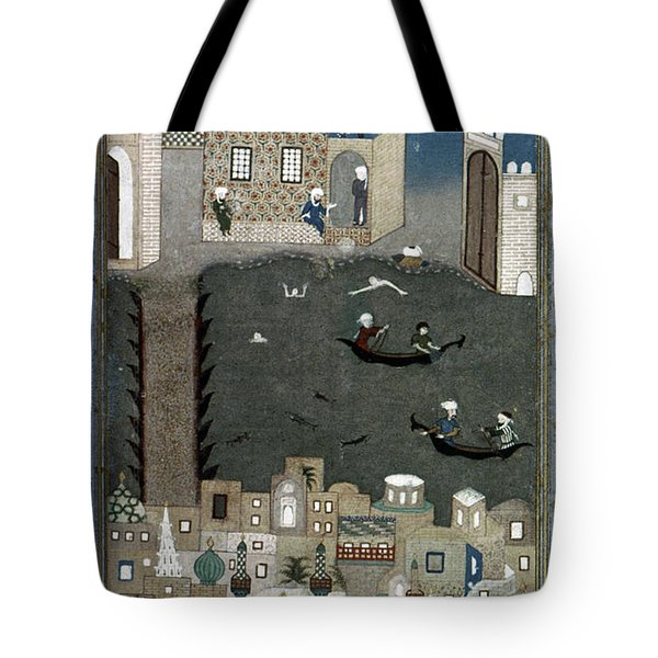 Tote Bag featuring the painting Persian Miniature, 1468 by Granger