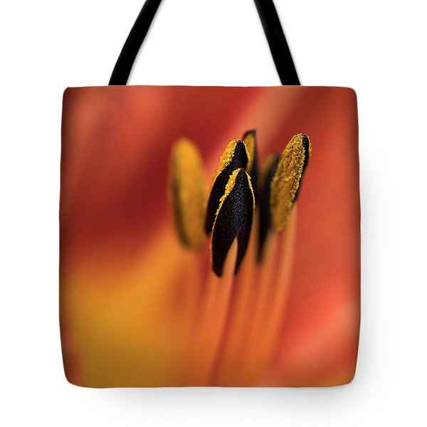 Persimmon Lilly Tote Bag