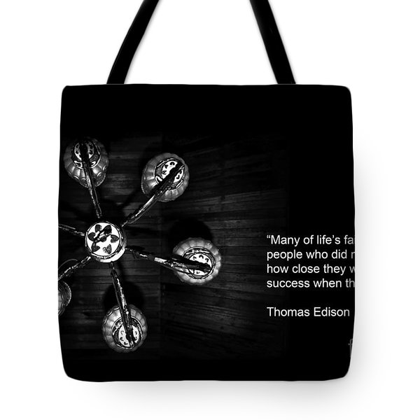 Persistence Tote Bag by Charuhas Images