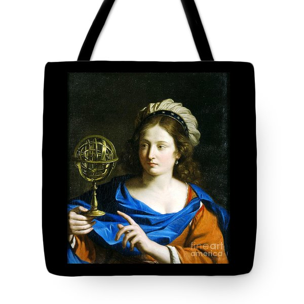 Tote Bag featuring the painting Personification Of Astrology by Pg Reproductions