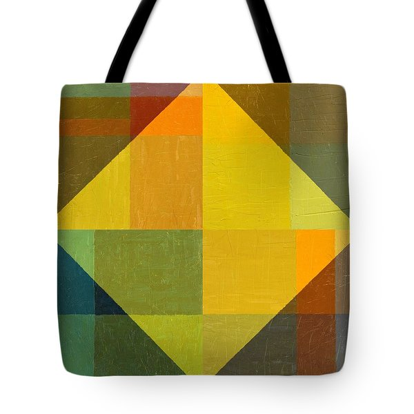 Perspective In Color Collage 2 Tote Bag by Michelle Calkins