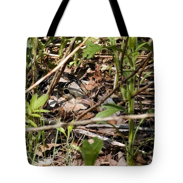 Perspective Of A Camouflage Tote Bag