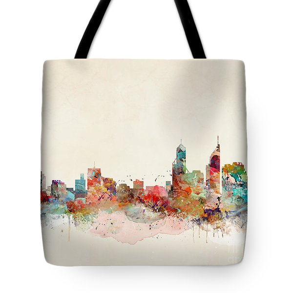 Tote Bag featuring the painting Perth Australia by Bri B
