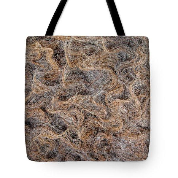 Peruvian Burro Curls Tote Bag