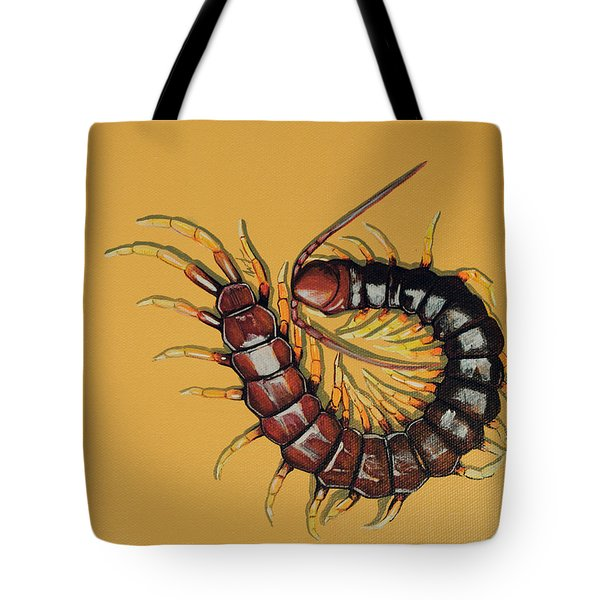 Tote Bag featuring the painting Peruvian Centipede by Jude Labuszewski
