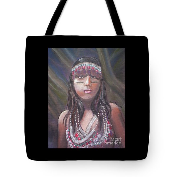 Peruvian Girl Tote Bag by Julie Brugh Riffey