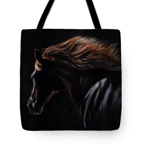 Tote Bag featuring the painting Peruvian Paso Horse by David Stribbling