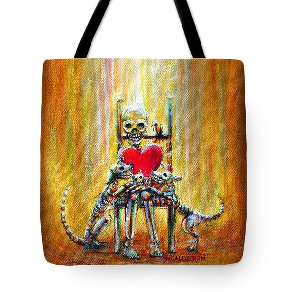Tote Bag featuring the painting Pet Love by Heather Calderon