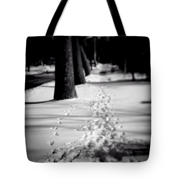 Pet Prints In The Snow Tote Bag