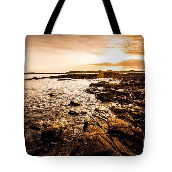 Petal Point Ocean Sunrise Tote Bag