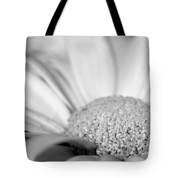 Tote Bag featuring the photograph Petals - Black And White by Angela Rath