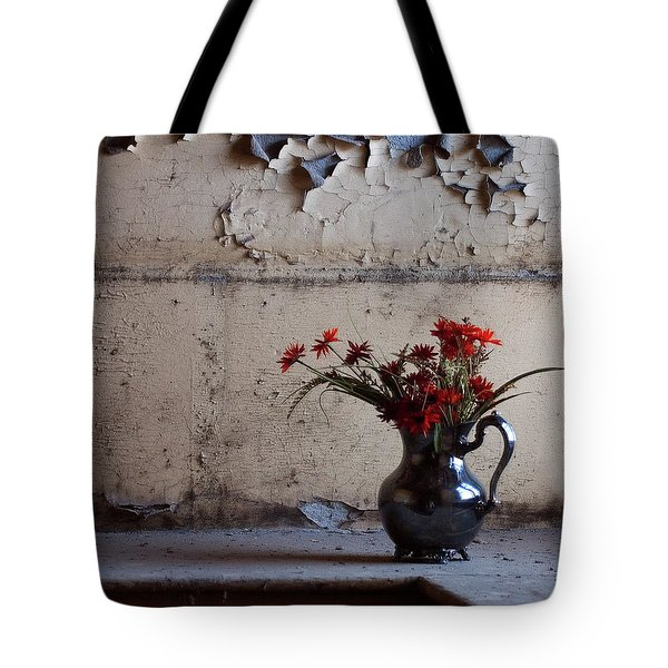 Petals And Peeling Paint - Preston Castle Tote Bag