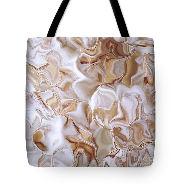 Tote Bag featuring the photograph Petals Beige by Cindy Lee Longhini