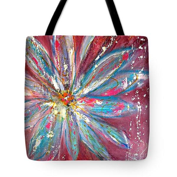 Petals Exploding Tote Bag