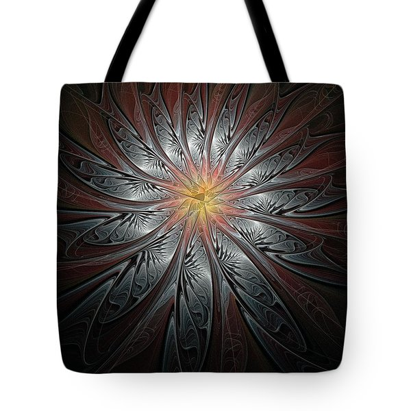 Petals In Pewter Tote Bag