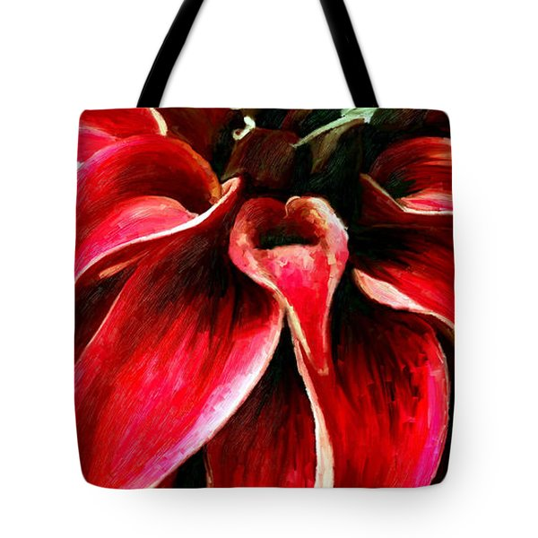 Tote Bag featuring the painting Petals by James Shepherd