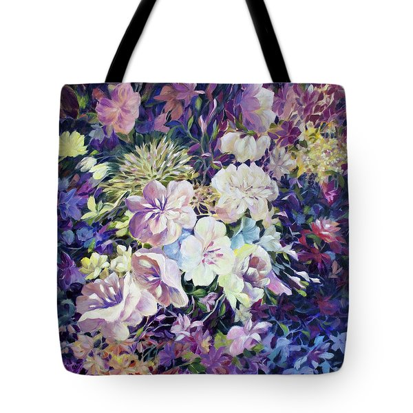 Tote Bag featuring the painting Petals by Joanne Smoley