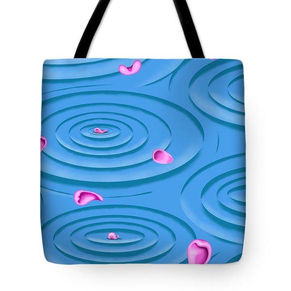 Petals On Water I Tote Bag