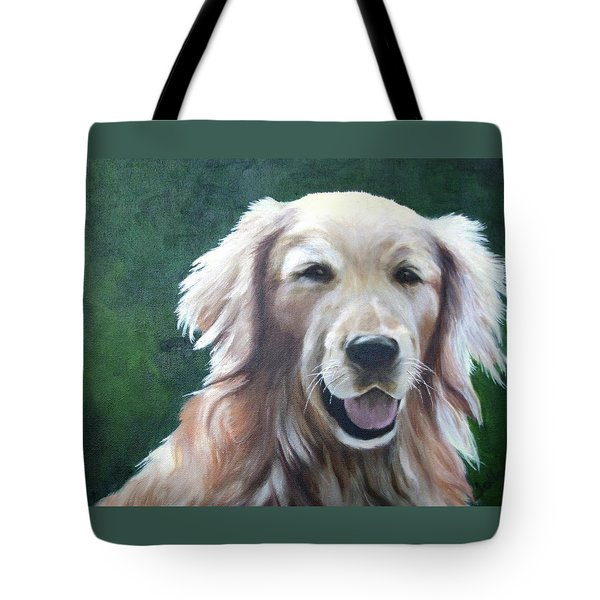 Tote Bag featuring the painting Pete by Nancy Jolley