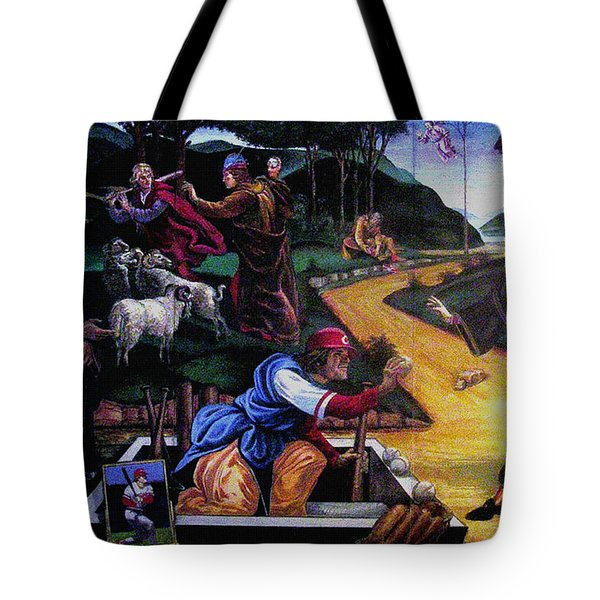 Pete Rose In The Renaissance Tote Bag by Stan Esson