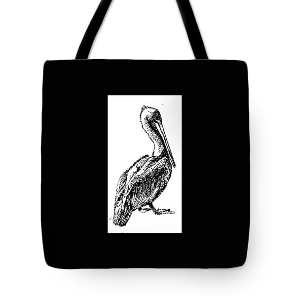 Pete The Pelican Tote Bag