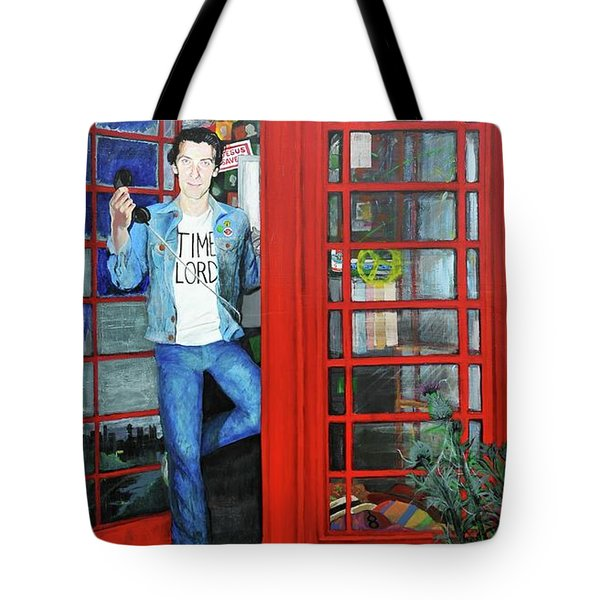 Peter Capaldi Dr Who Putting You Through Tote Bag