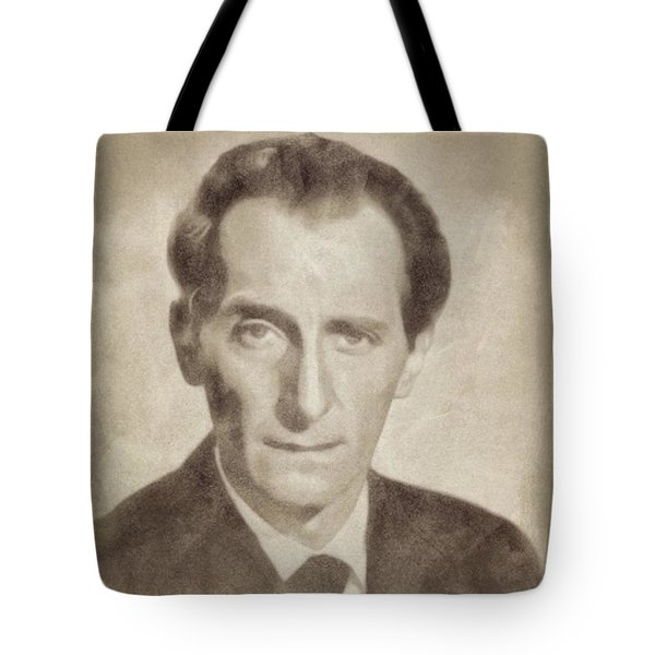 Peter Cushing, Acting Legend By John Springfield Tote Bag
