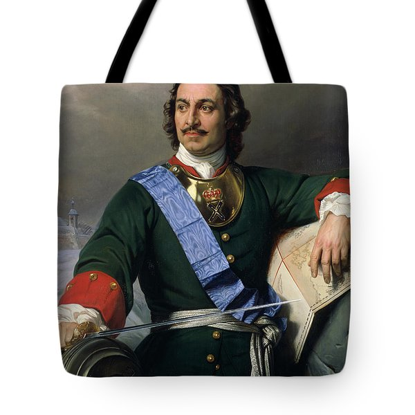 Peter I The Great Tote Bag by Delaroche
