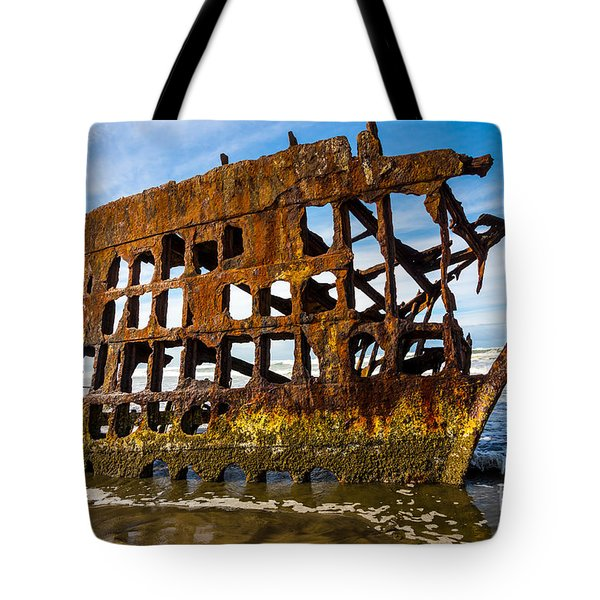 Peter Iredale Shipwreck - Oregon Coast Tote Bag by Gary Whitton