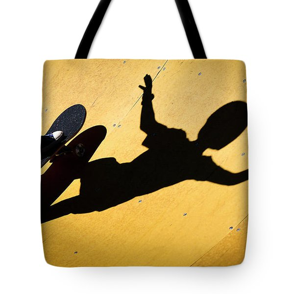 Peter Pan Skate Boarding Tote Bag