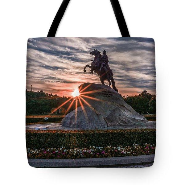 Peter Rides At Dawn Tote Bag