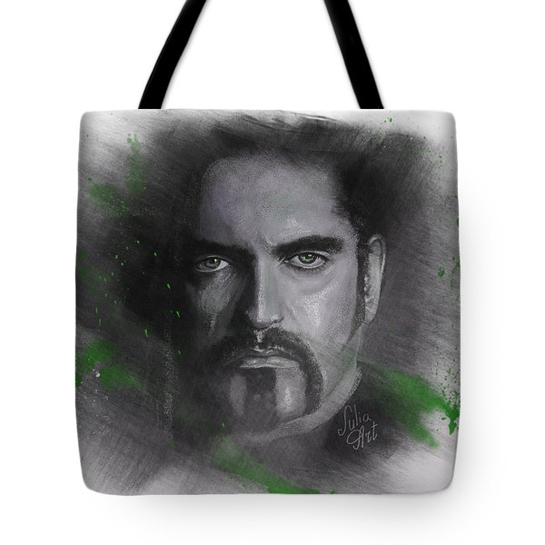 Tote Bag featuring the drawing Peter Steele, Type O Negative by Julia Art