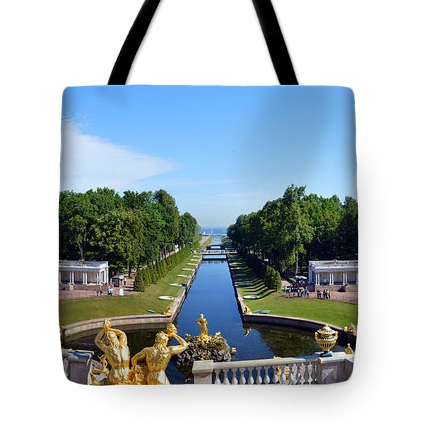 Peterhof Place Gardens Tote Bag by Terence Davis