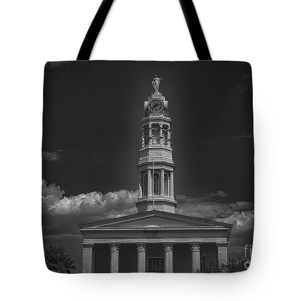 Tote Bag featuring the photograph Petersburg Virginia Courthouse Steeple by Melissa Messick