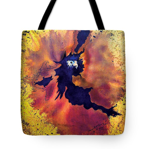 Tote Bag featuring the painting Pete's Speed Of Light by Albert Puskaric