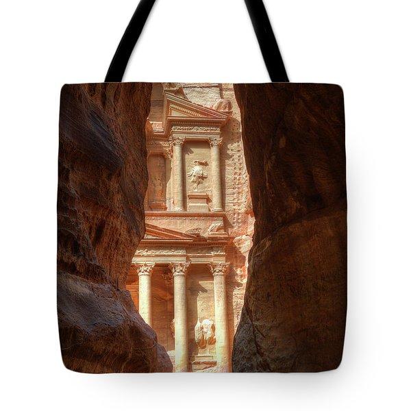 Petra Treasury Revealed Tote Bag