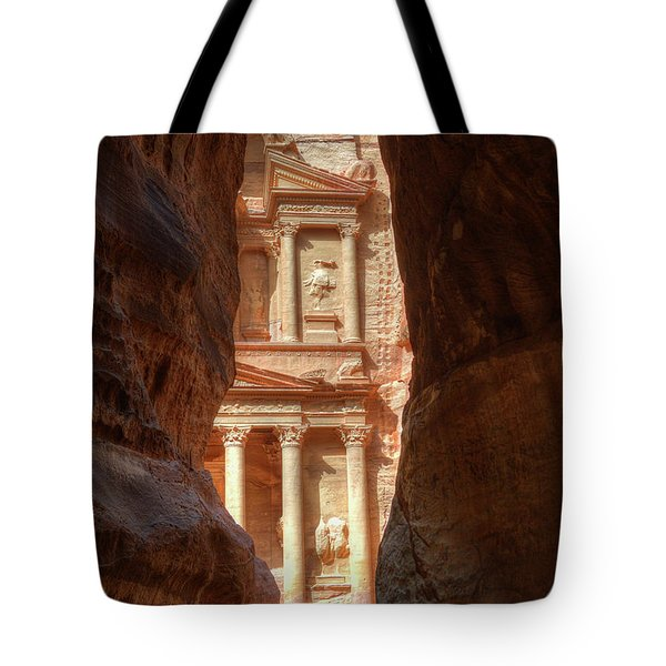 Petra Treasury Revealed Tote Bag