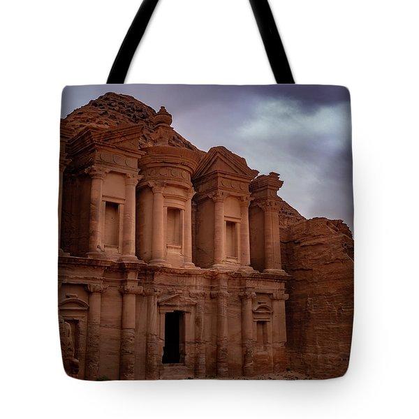 Petra's Monastery Tote Bag