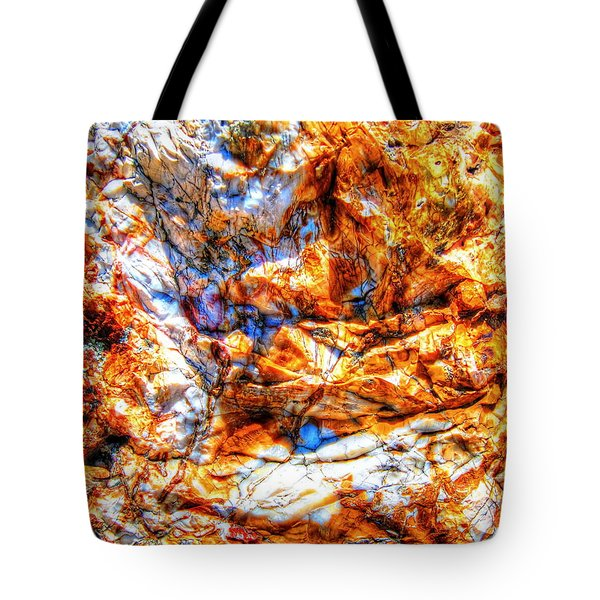 Tote Bag featuring the photograph Petrified Abstraction No 3 by Andreas Thust
