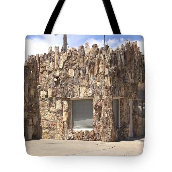 Petrified Wood Building Tote Bag