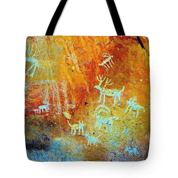 Petroglyph Panel Work 12 Tote Bag